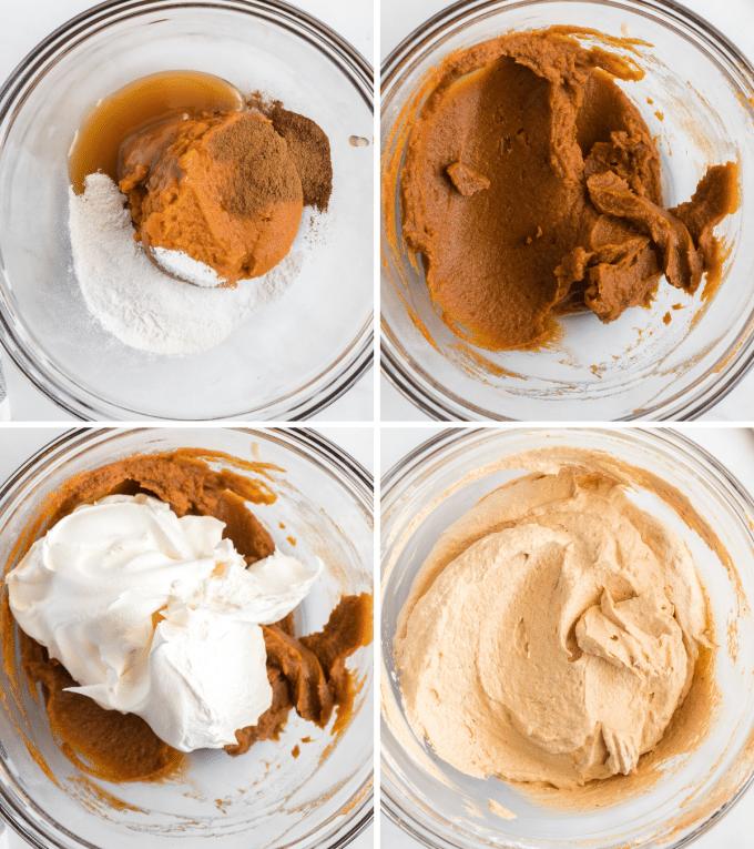 making pumpkin dip in step by step photos