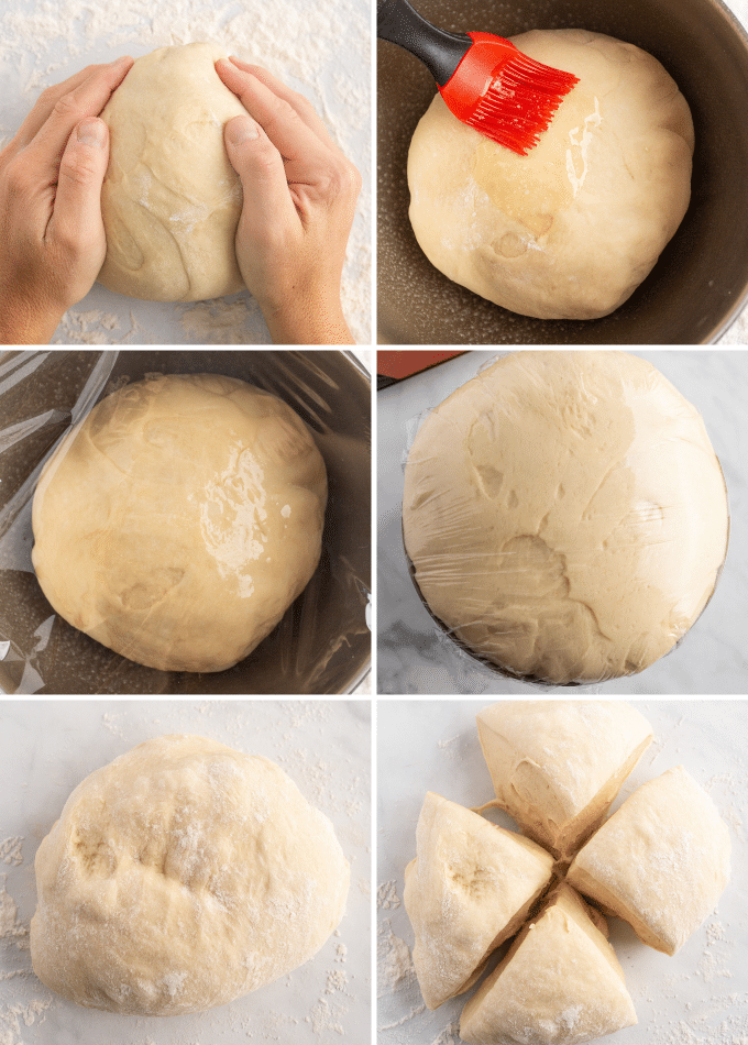 step by step photos of letting crescent roll dough rise