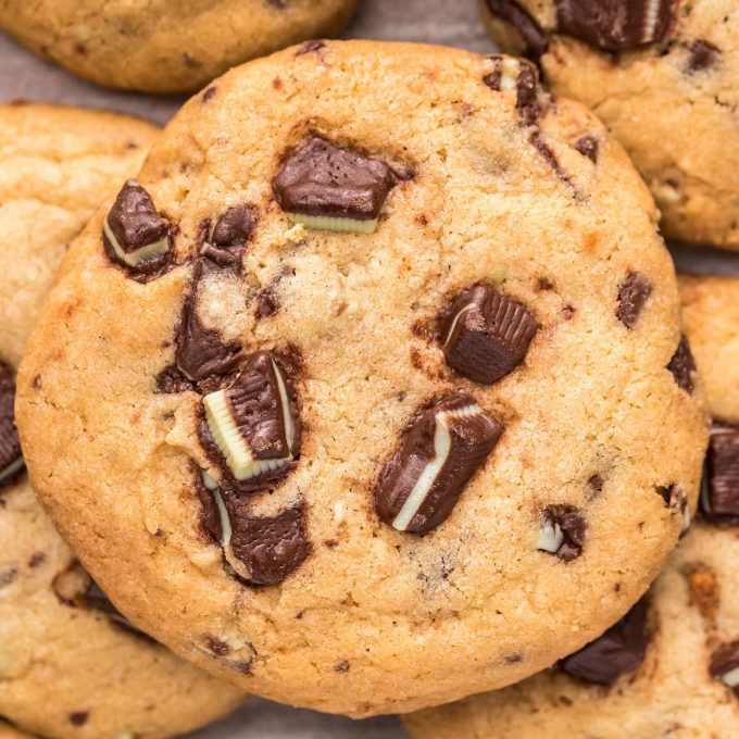 soft baked andes mint cookies