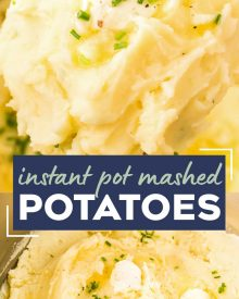 This classic recipe for perfect Instant Pot Mashed Potatoes is the only one you'll need! So creamy, buttery and rich, they're great as a holiday side dish for Thanksgiving, or alongside a roast, steak, or juicy piece of chicken! #potatoes #mashedpotatoes #sidedish #side #holiday #thanksgiving #dinner #sundaydinner