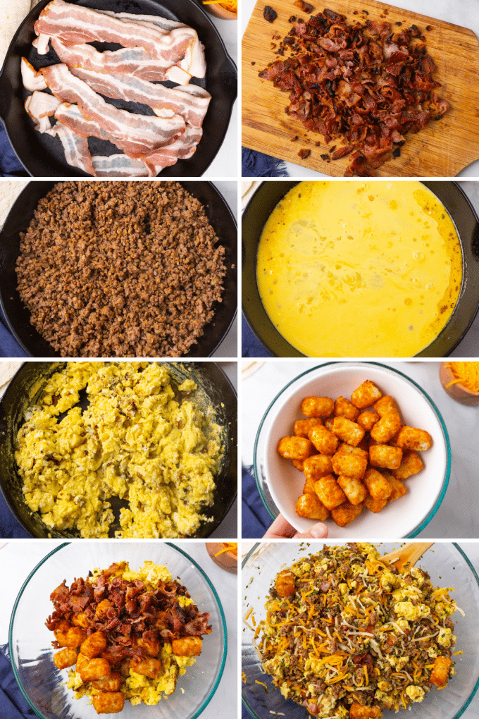 step by step how to make burrito filling