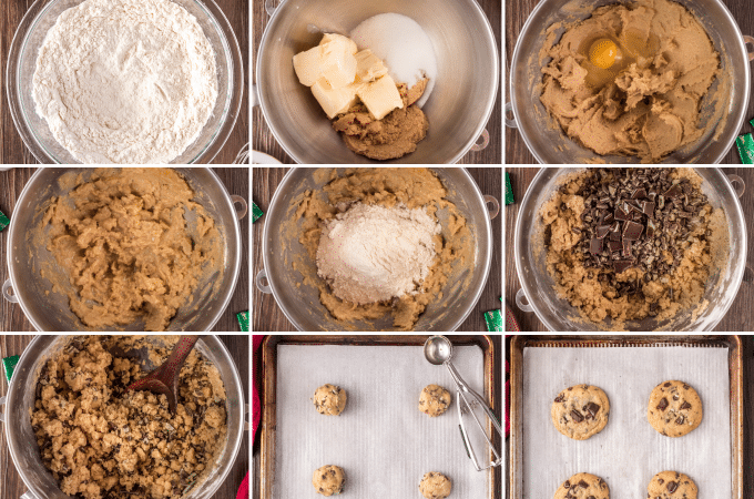 step by step how to make andes mint cookies