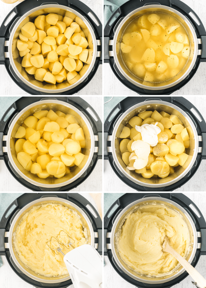 step by step photos of making homemade mashed potatoes