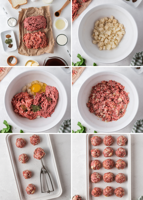 step by step how to make meatballs