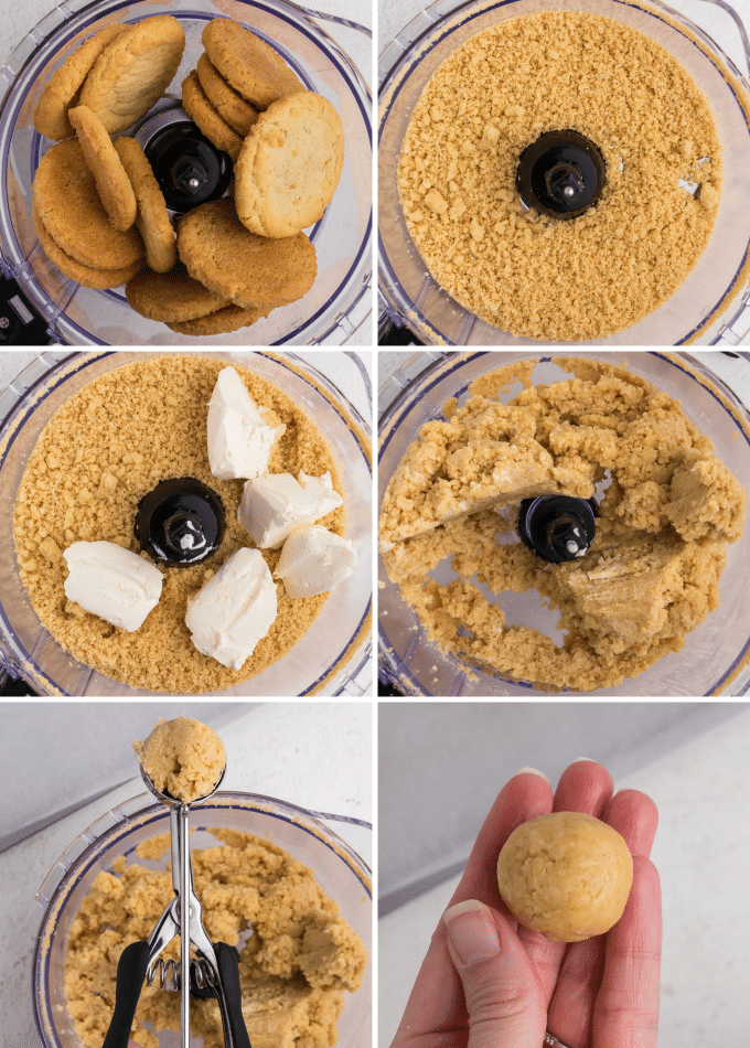 step by step how to make sugar cookie balls