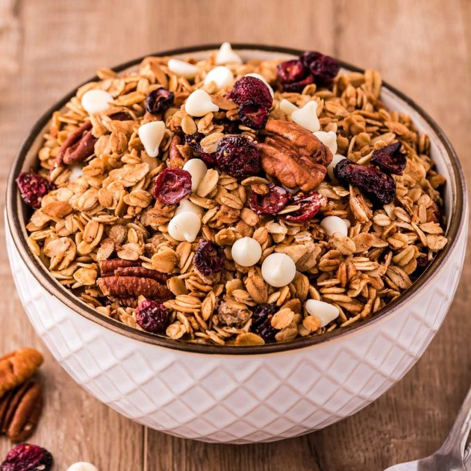 bowl of homemade granola