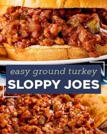 These absolutely delicious ground turkey sloppy joes are made in one skillet and ready in less than 30 minutes! Homemade yet easy to make, this is a family-friendly dinner that you can even make ahead of time. #sloppyjoes #turkey #groundturkey #dinner #kidfriendly #weeknight #healthier #easyrecipe