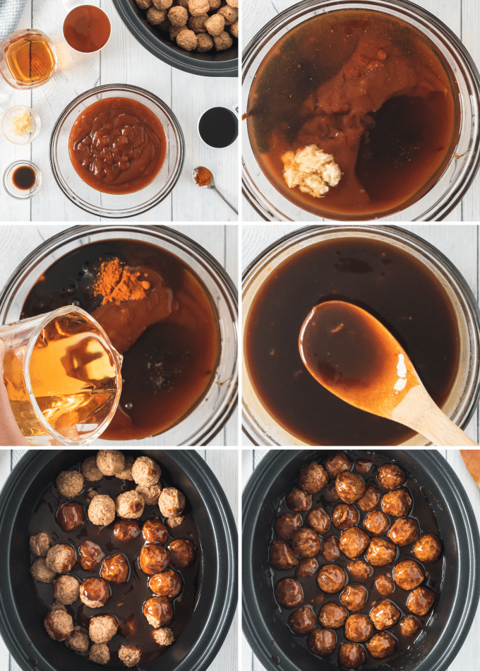 step by step how to make bourbon bbq meatballs