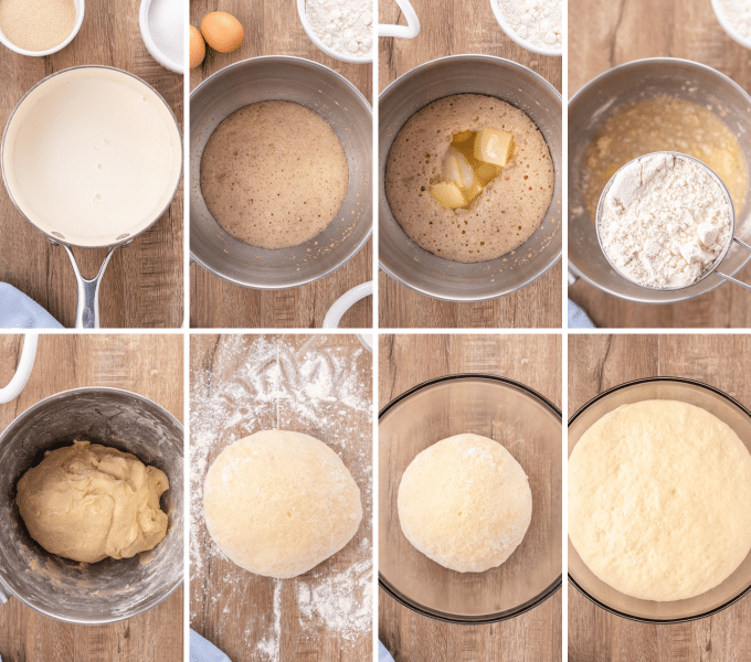 step by step how to make sweet roll dough