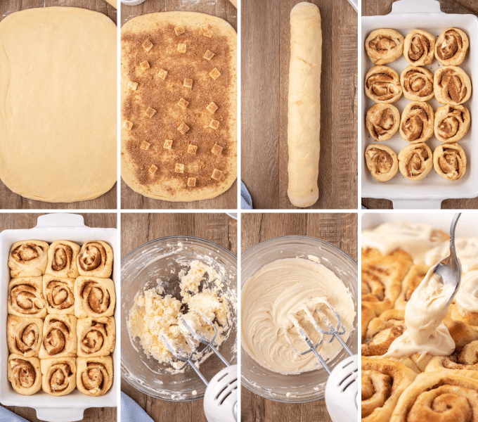 step by step how to make cinnamon rolls