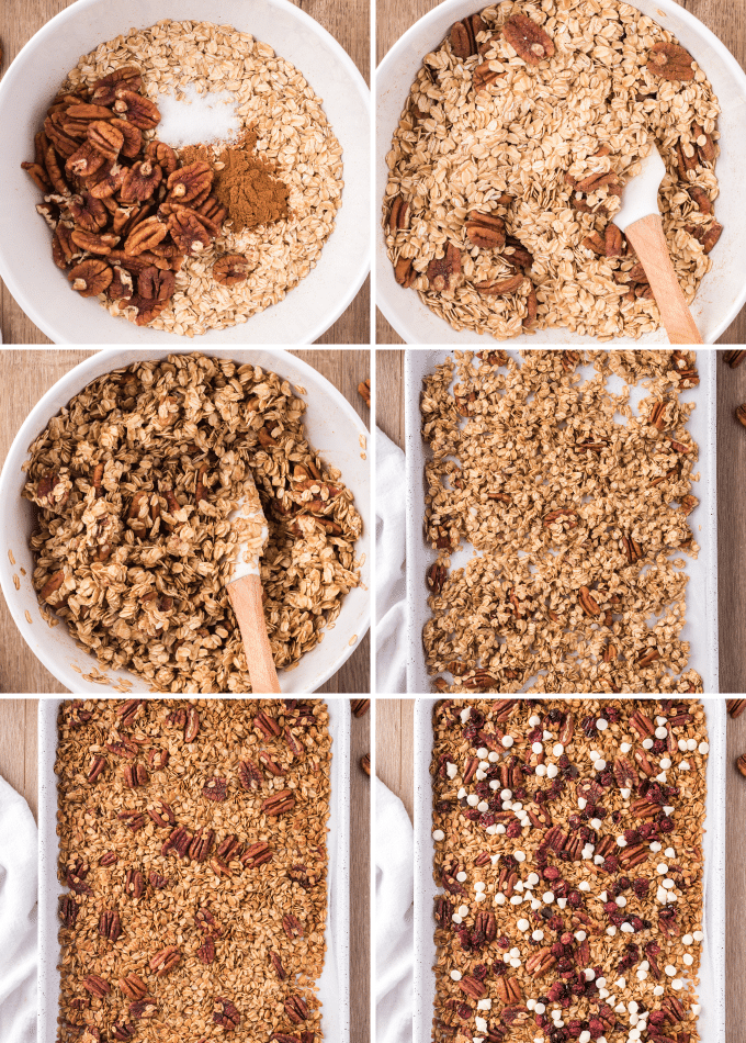 step by step how to make homemade granola