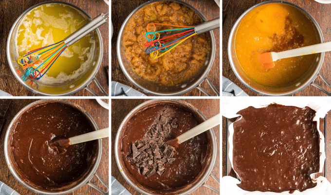 step by step how to make fudgy brownies