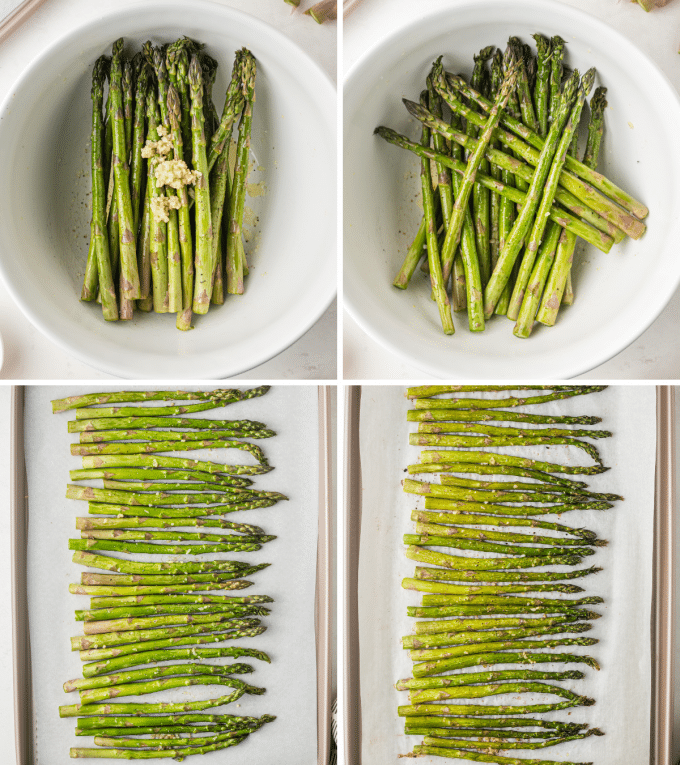 step by step how to roast asparagus in the oven