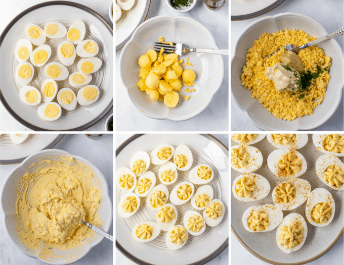 step by step how to make deviled eggs