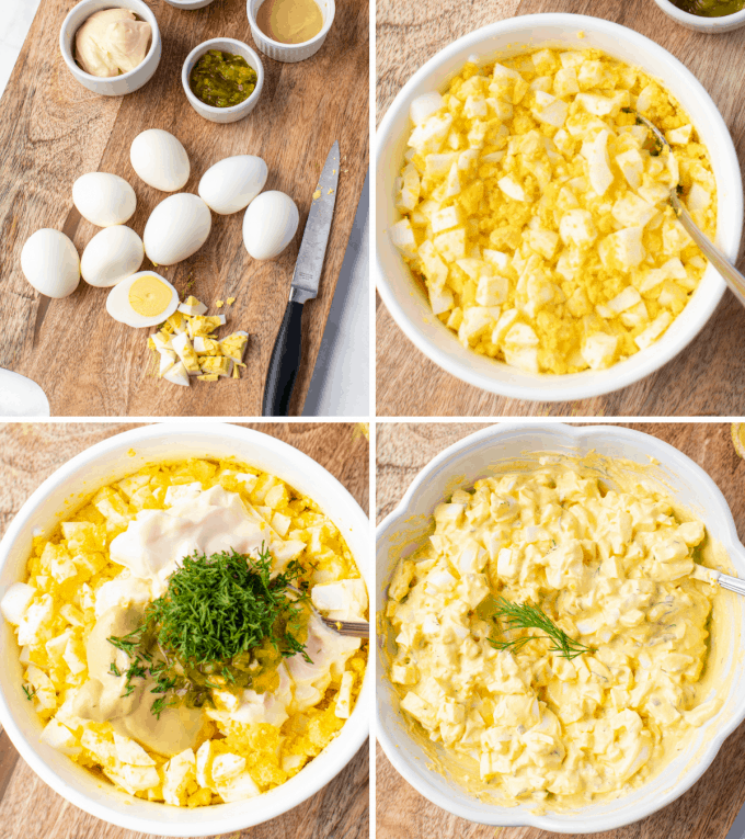 step by step how to make egg salad