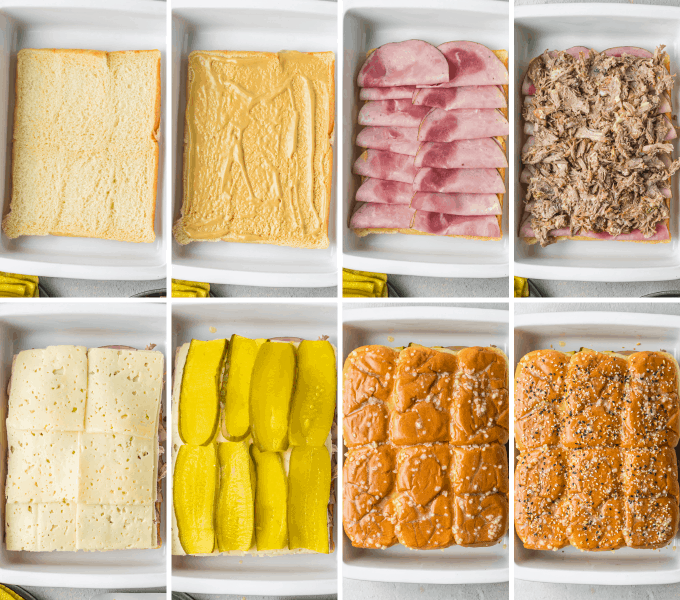 step by step how to make cuban sliders - image collage