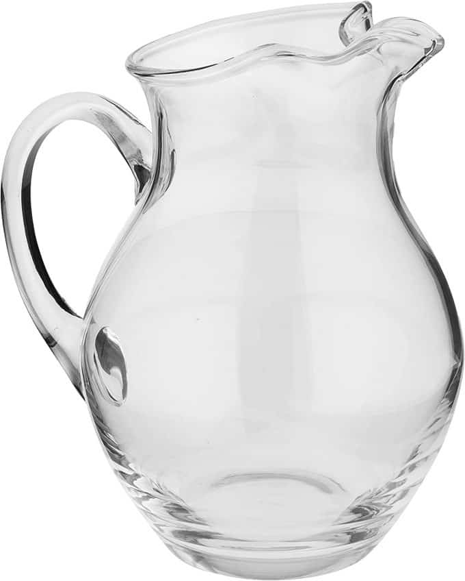 glass pitcher.
