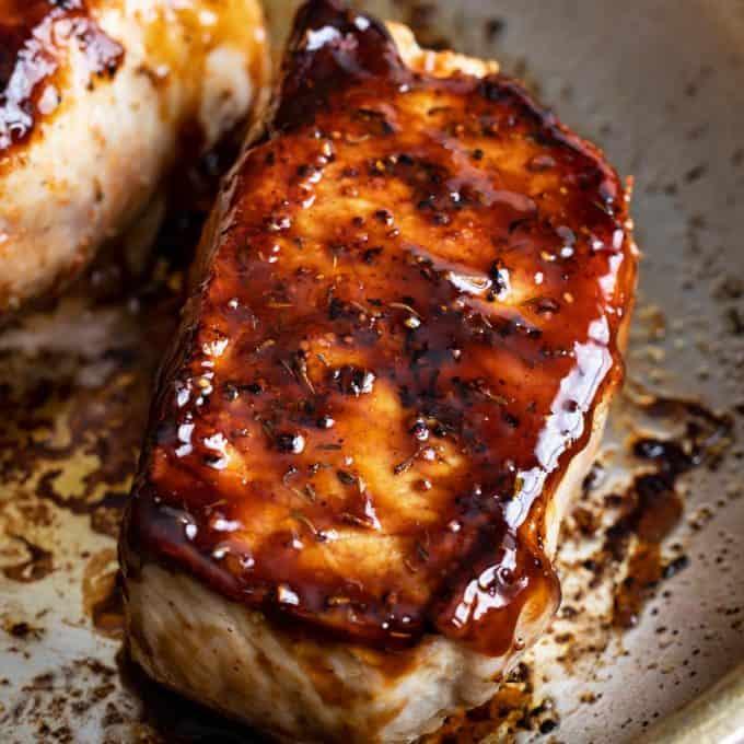 bourbon pork chops