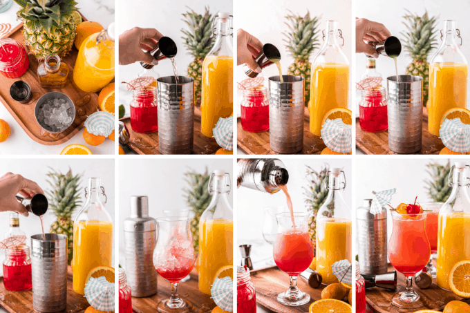 step by step how to make a hurricane cocktail