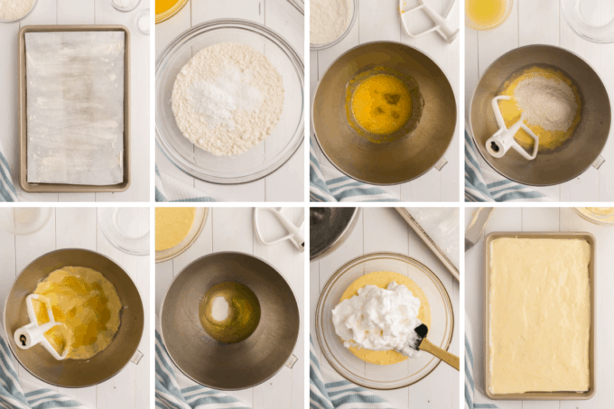 step by step how to make lemon cake roll sponge cake
