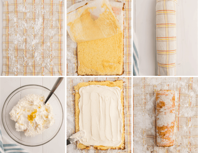 step by step how to make lemon cake roll