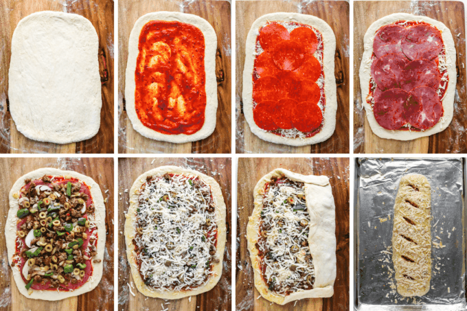 step by step how to make stromboli