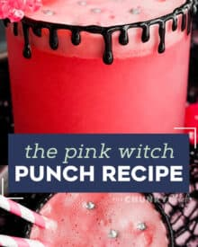 This sweet and fun drink is great for Halloween, Valentine's day and more! Easy to make, fun to drink, and can easily be turned into a cocktail if you wanted. #drink #halloween #pink