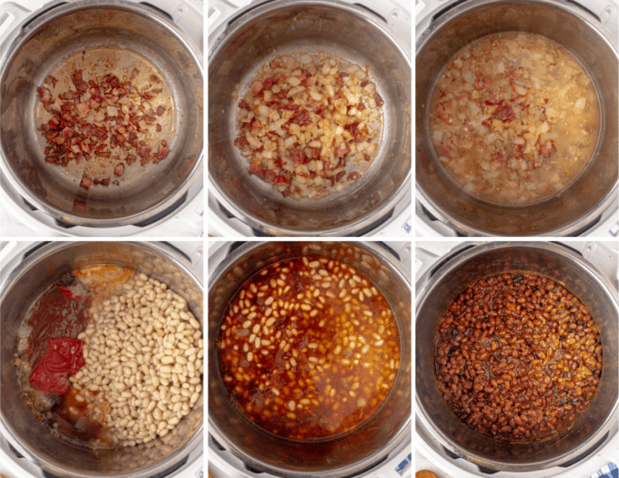 step by step how to make baked beans in the Instant Pot