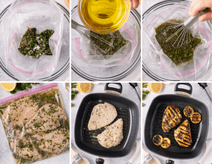 step by step how to make lemon herb grilled chicken