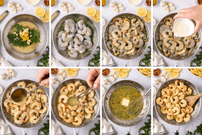 step by step how to make shrimp scampi