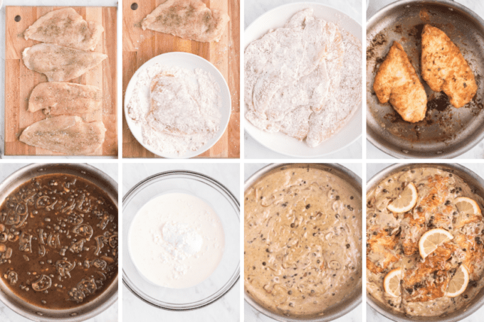 step by step how to make creamy chicken piccata