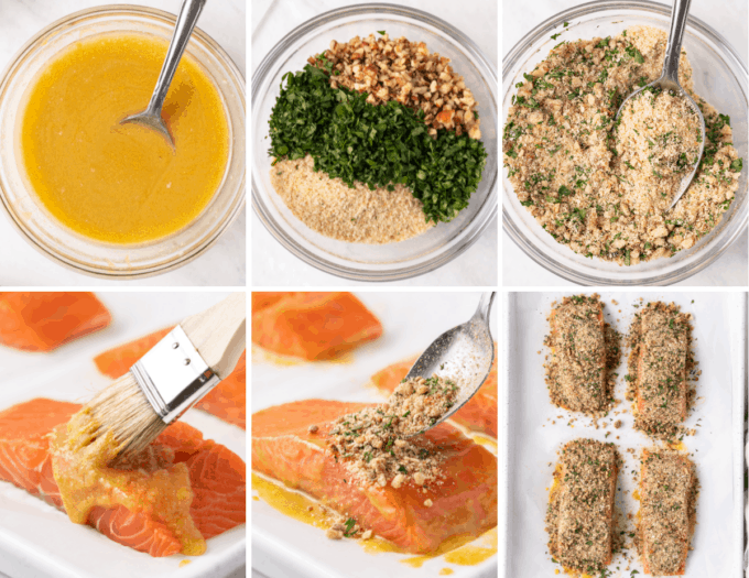 step by step how to make crusted dijon salmon