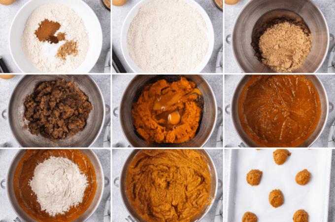 step by step how to make pumpkin whoopie pies