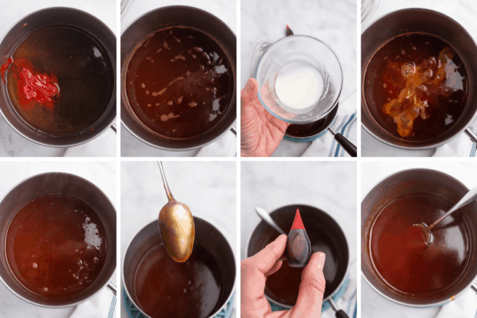 step by step how to make sweet and sour sauce